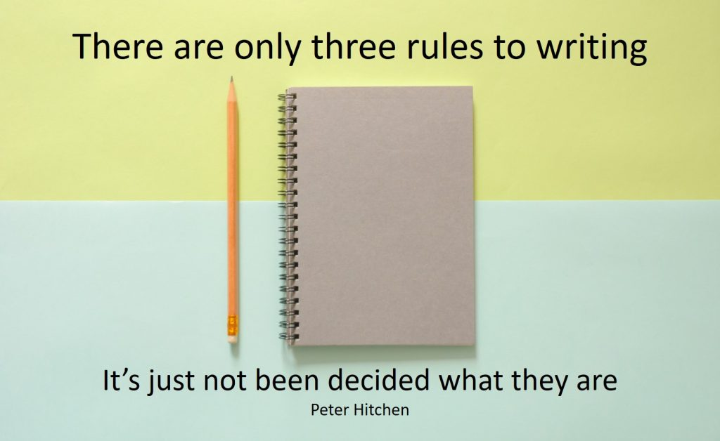three rules to writing