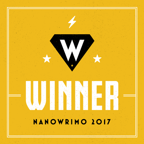 After NanoWriMo winners badge