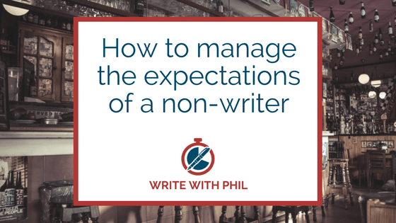 Manage the expectations of a non-writer header