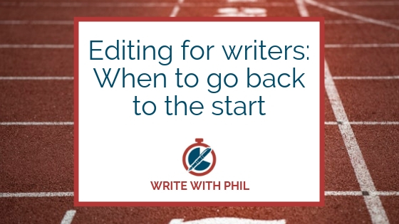 Editing for writers when to go back to the start header
