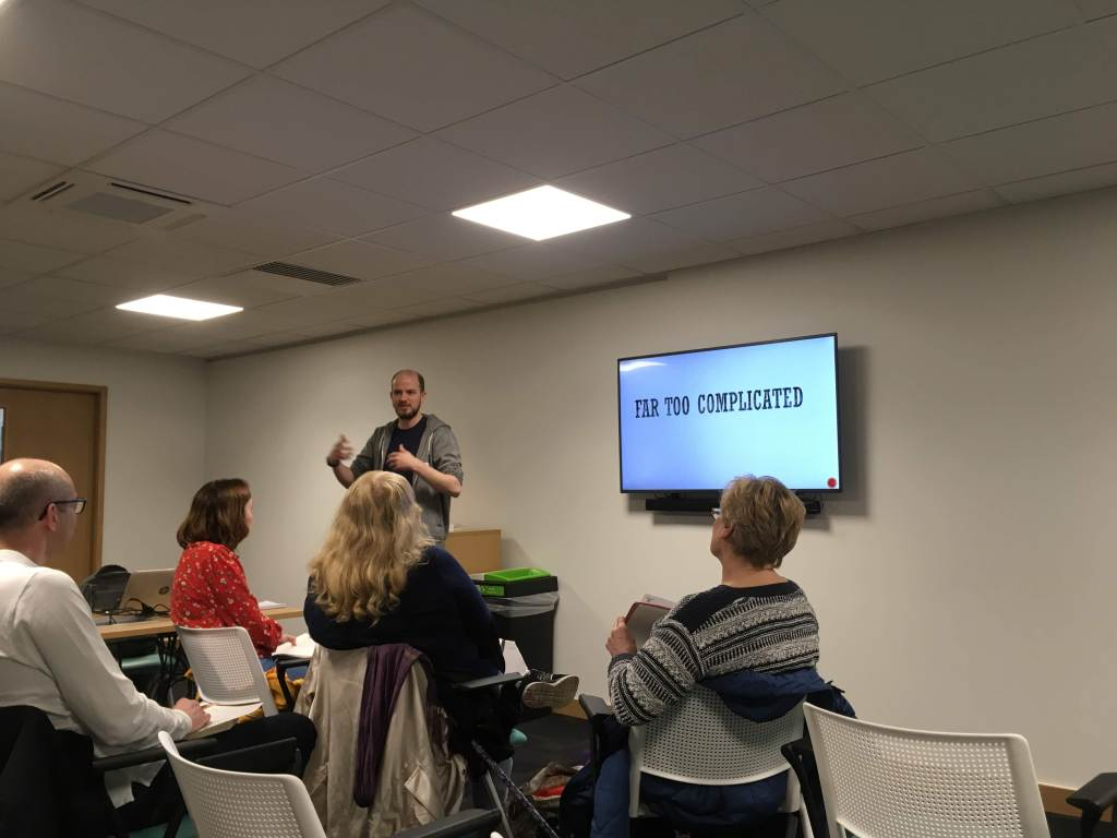 Phil Hurst speaking at Essex Authors and You