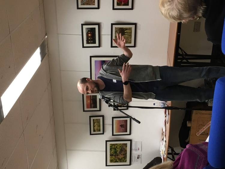 Phil talking at the Writers slam at Essex Authors and You 2019