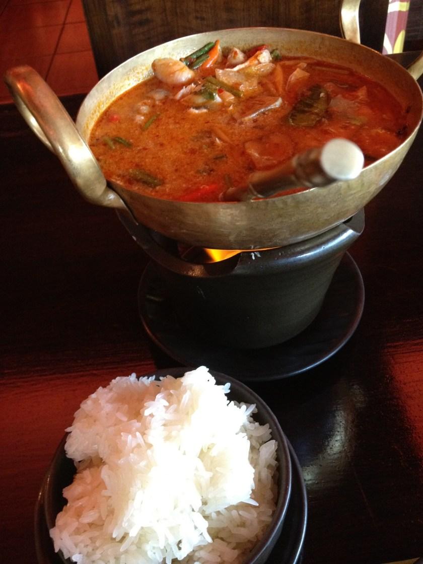 Tom Yum Gai and Sticky Rice