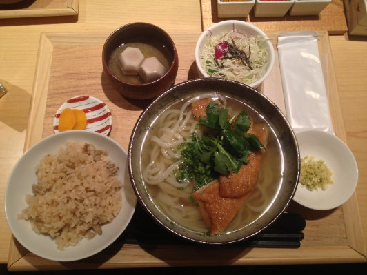 Kitsune Udon Lunch Set With Dessert