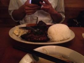 Pork Chop Rice Plate