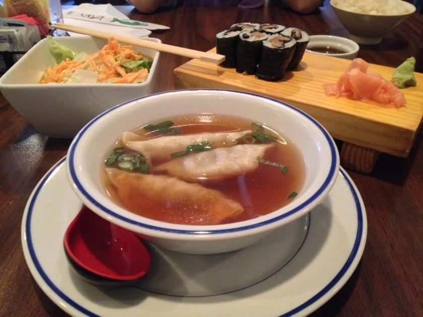 Dumpling Soup, Shiitake Roll