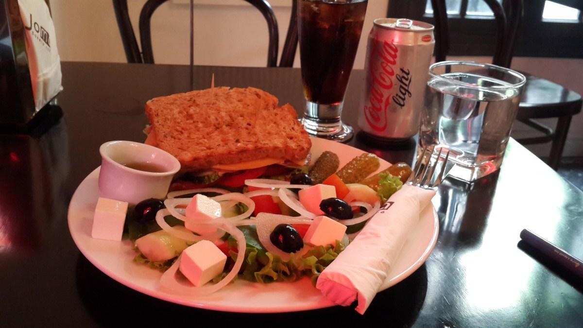 Pastrami Sandwich, Greek Salad