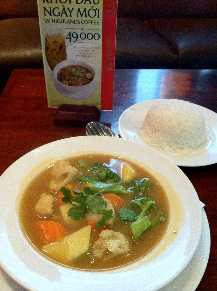 Vegetable Curry With White Rice