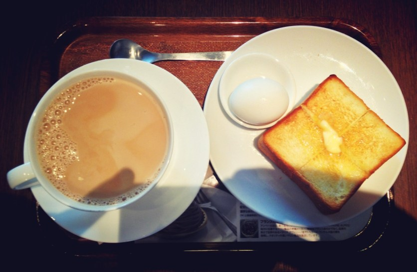 Hot Milk Tea, Egg and Thick Toast