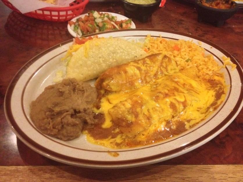 Taco, Tamale, Cheese Enchilada
