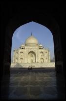 Digital photo titled taj-mahal-framed-from-mosque