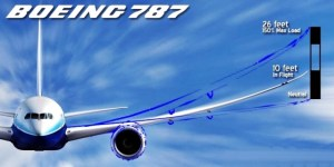 Boeing 787 Dreamliner curved wings