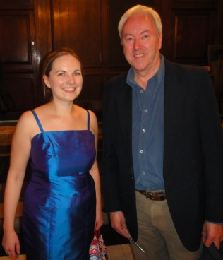 Philip and Joanna Tomlinson, conductor of Constanza Chorus, first performance of A Farewell, St Sepulchre-without-Newgate, London, October 2013