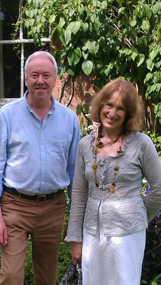 Philip with Lithuanian choral conductor Salvinija Jautakaitė-Hargreaves, Alton, June 2014