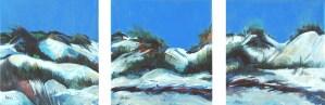 "Philip Bates Artist ""Barier Island Dunes"" Acrylic 10X32 $300 w/ strip frames"