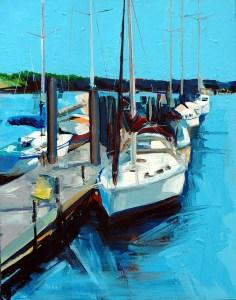 """Philip Bates Artist """"Dallas Bluff"""" acrylic 18X24 $200 w/ strip frame"""