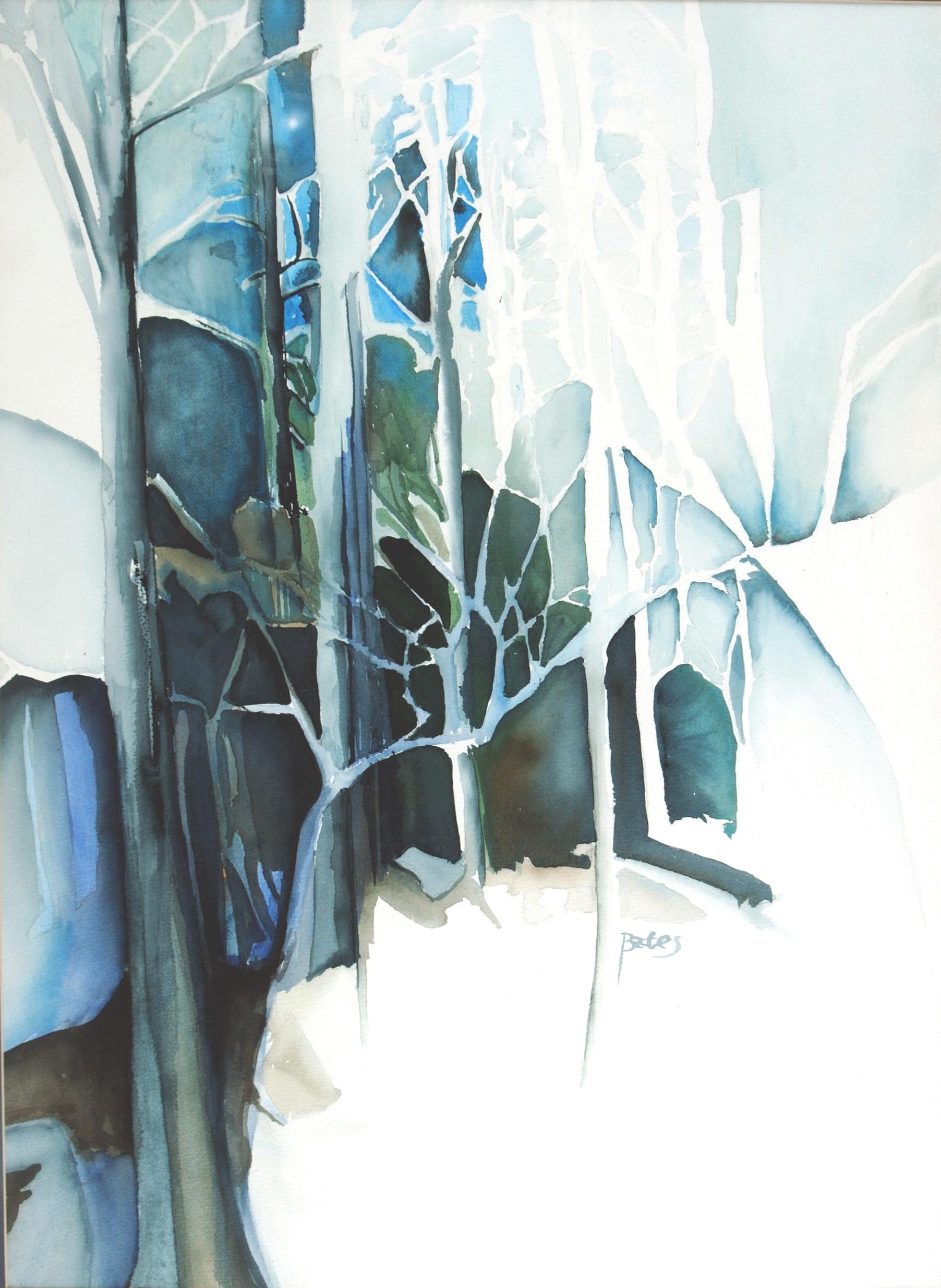 "Philip Bates Artist ""Dogwoods"" 20X28 watercolor $350 framed"