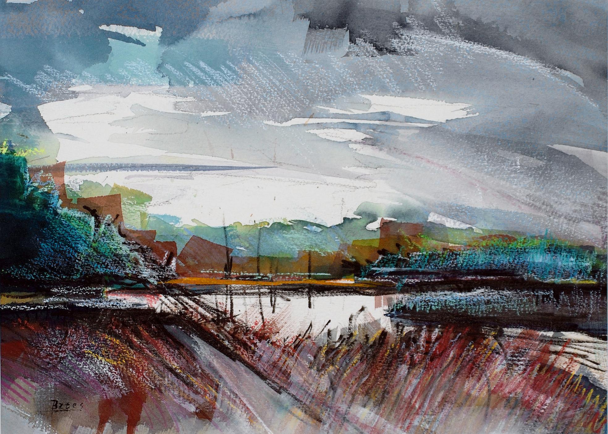 "Philip Bates Artist ""Julienton River"" Mixed Media 10X14 $100 (unframed)"
