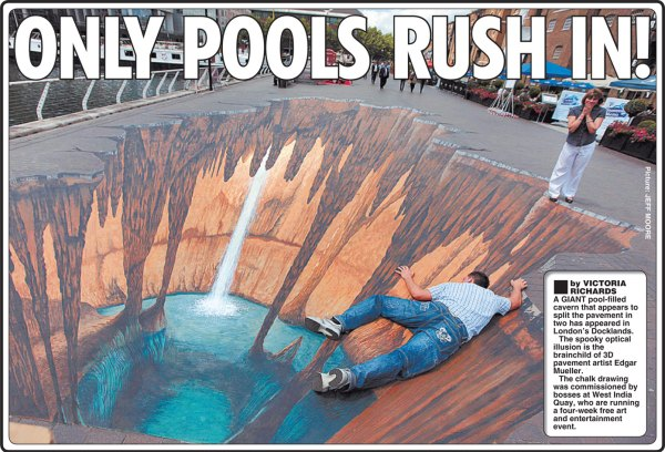 Pools Rush In Diary Of Pavement-artist