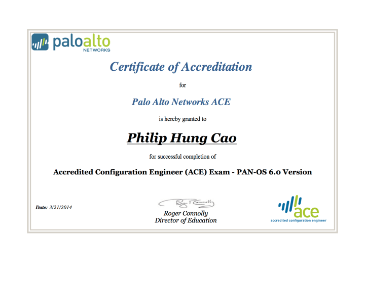[2014] Philip Hung Cao - ACE 6.0