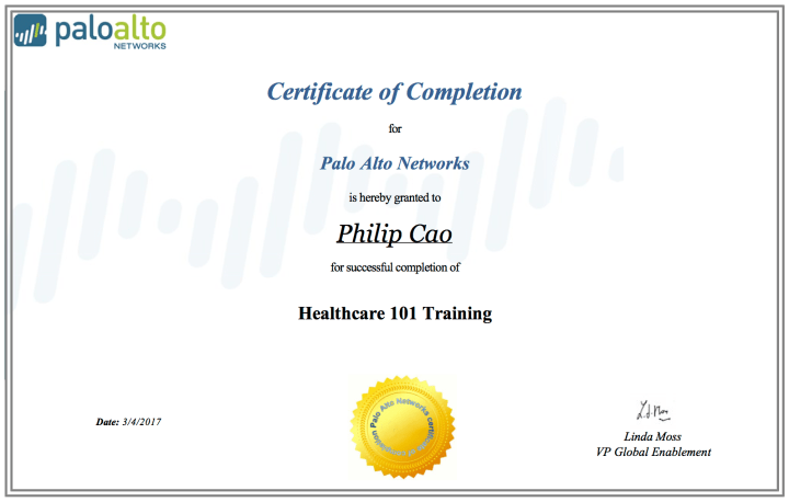 2017-philip-hung-cao-healthcare-101-training-certificate-of-completion