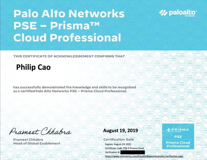 Palo Alto Networks System Engineer Professional – Prisma Cloud (PSE-P Prisma Cloud)