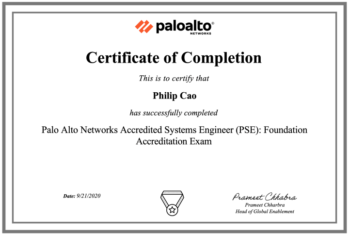 Palo Alto Networks Accredited Systems Engineer (PSE): Foundation Accreditation (August 2020 update)