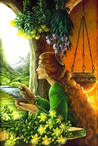 'The Restorers' Card from The Druid Plant Oracle. Artist: Will Worthington