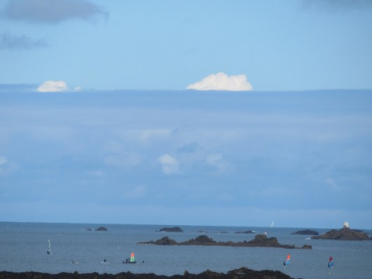 some odd clouds on the horizon, probably a weather front