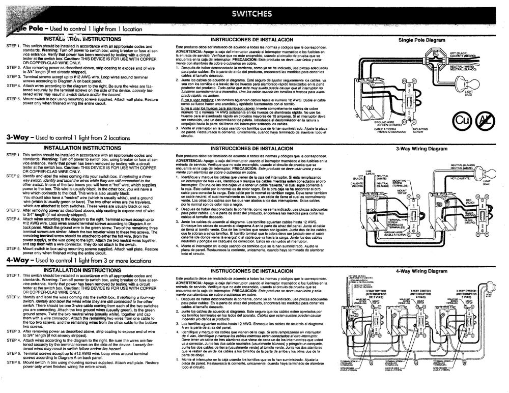 medium resolution of switches outlets manufacturer supplied instruction on installing receptacles switches pass seymour