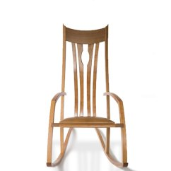 Custom Rocking Chairs Texas White And Gold Chair Made Fine Wood Furniture Philip Morley