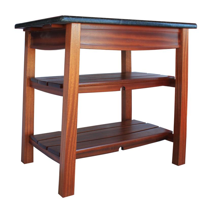 Mahogany Kitchen Island Bbq Table Marble Top Angle Orig Philip Morley Furniture