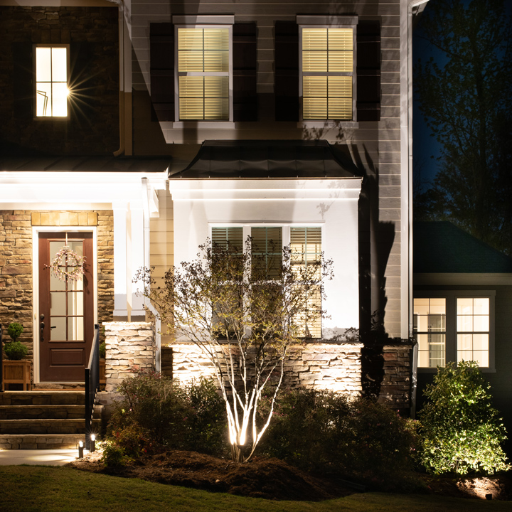 install landscape lighting for added
