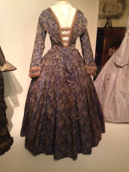Blue damask Victorian Dress c.1850 | Victorian Dress | Philippa Jane Keyworth