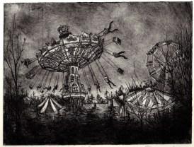 10, 'The Fair', 2011,8X6, etching