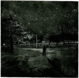 park shadows,8x8,aquatint,2010