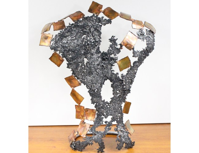 Kouros Ceylan - Sculpture Philippe Buil - Dos en Bronze et Acier