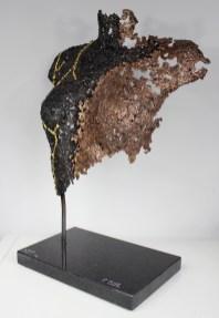 32 Lucy kintsugi sculpture acier bronze or 3