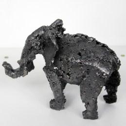 Sculpture en dentelle d'acier - Pièce unique - longueur 17 cm Eléphant Babar