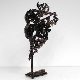 Sculpture représentant un buste de femme en métal : dentelle de bronze et d'acier Pavarti Guapa Pièce unique