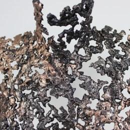 Sculpture de Philippe Buil en metal : dentelle de bronze et d'acier Buste de Femme Belisama Guepard Piece unique
