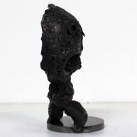P6 - Un coeur de vanité - Sculpture Philippe Buil - Tete de mort en acier et coeur en bronze 3