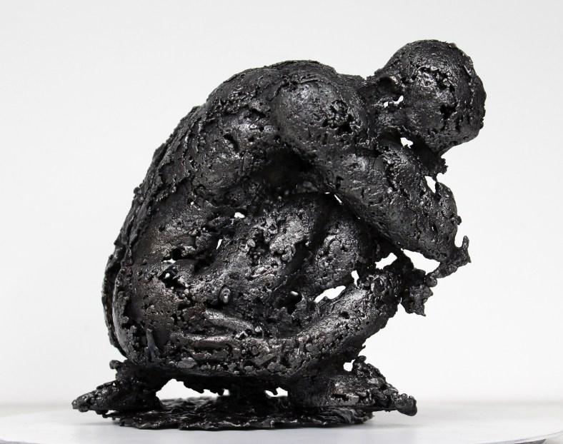 Pavarti Pacifique - Sculpture Philippe Buil - Homme metal dentel