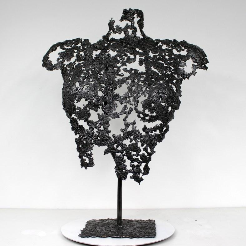Belisama Panama - Sculpture Philippe Buil - Buste de femme Metal