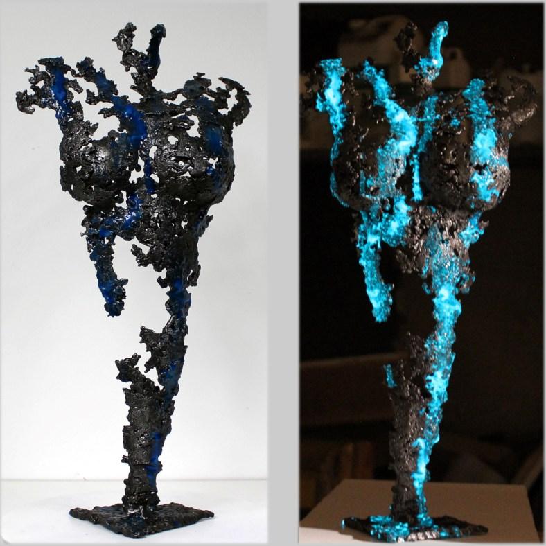 Pavarti Avatar I - Sculpture Philippe Buil - Corps de femme meta