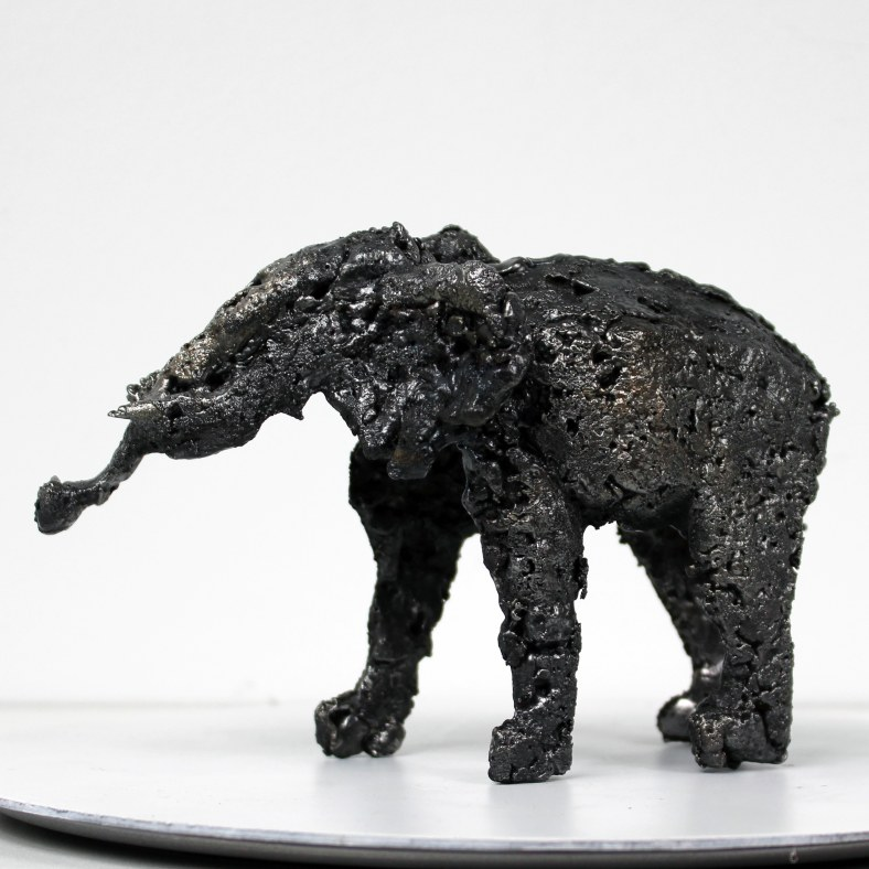 Buffon Elephant - Sculpture Philippe Buil - Elephant en metal :