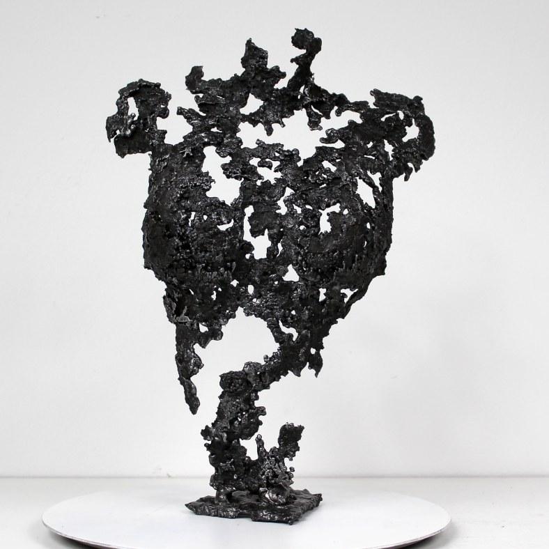 Pavarti piano - Sculpture Philippe Buil - Corps de femme metal d