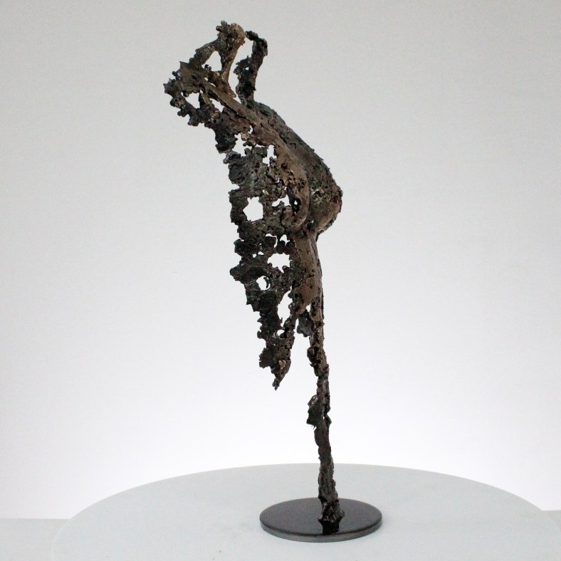 Pavarti - Sculpture corps femme métal dentelle acier bronze - Body woman metal artwork - lace steel, bronze brass - Buil