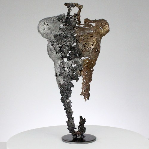 Pavarti lumière - Sculpture corps femme métal dentelle acier bronze Aluminium - Body woman light metal artwork - lace steel, bronze, aluminium - Buil