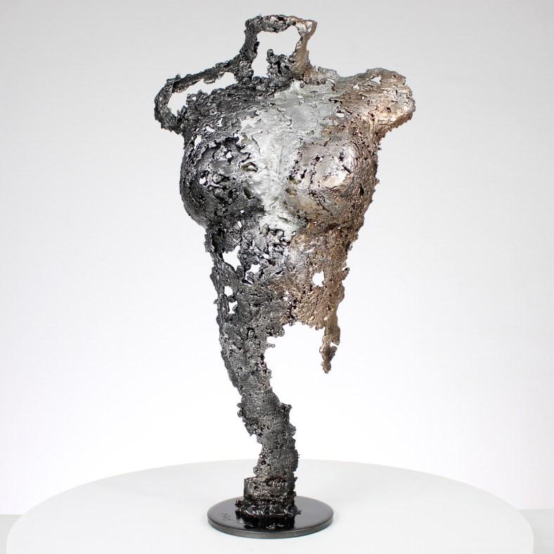 Pavarti espace - Sculpture corps femme métal dentelle acier bronze Aluminium - Body woman space metal artwork - lace steel, bronze, aluminium - Buil